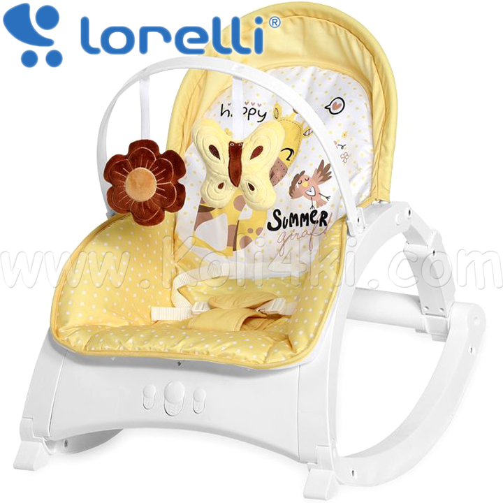 2020 Lorelli Classic Шезлонг ENJOY Za Za Yellow Jiraffe 1011011/