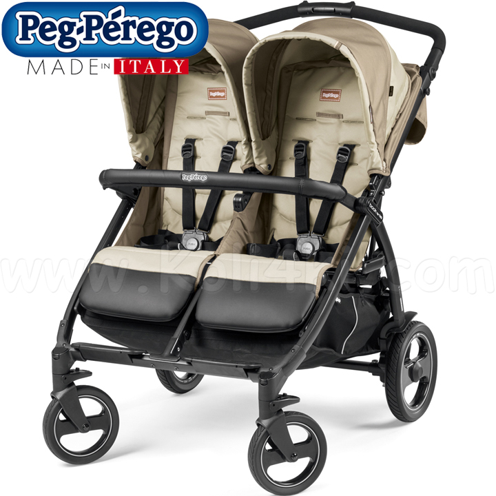 Peg Perego Детска количка за близнаци BOOK FOR TWO Class Beige
