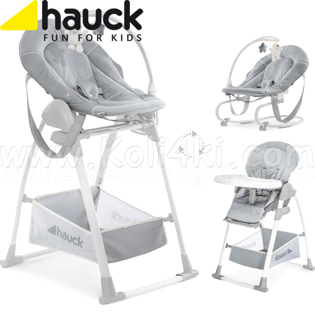 2020 Hauck Стол за хранене 3в1 Sit`n Relax Stretch Grey 665503